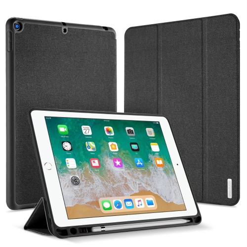 """DUX DUCIS Domo TPU gel tablet cover with multi-angle stand and Smart Sleep function for iPad 9.7"""" 2017/2018 black"""