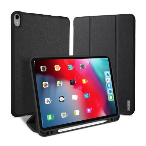 """DUX DUCIS Domo TPU gel tablet cover with multi-angle stand and Smart Sleep function for iPad Pro 11"""" 2018 black"""
