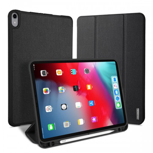 """DUX DUCIS Domo TPU gel tablet cover with multi-angle stand and Smart Sleep function for iPad Pro 12.9"""" 2018 black"""