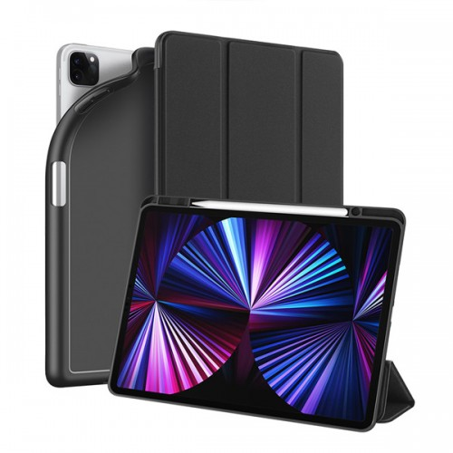 """DUX DUCIS Osom TPU gel tablet cover with multi-angle stand and Smart Sleep function for iPad Pro 12.9"""" 2020/2021 black"""