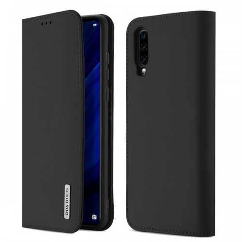 DUX DUCIS Wish Genuine Leather Bookcase type case for Huawei P30 black