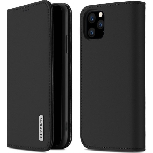 DUX DUCIS Wish Genuine Leather Bookcase type case for iPhone 11 Pro Max black