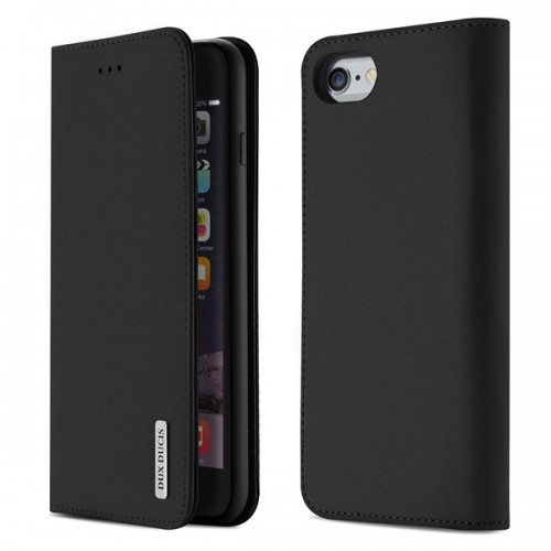 DUX DUCIS Wish Genuine Leather Bookcase type case for iPhone 6/6s black