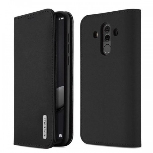 DUX DUCIS Wish Genuine Leather Bookcase type case for Huawei Mate 10 black