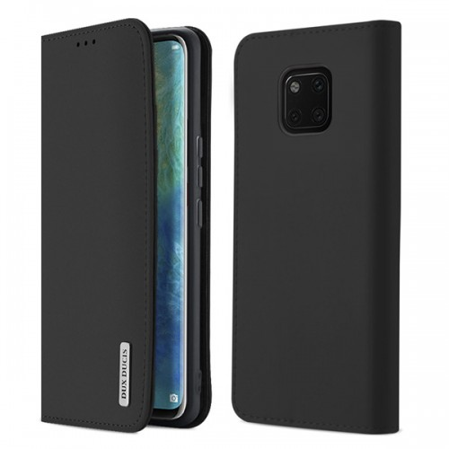 DUX DUCIS Wish Genuine Leather Bookcase type case for Huawei Mate 20 Pro black