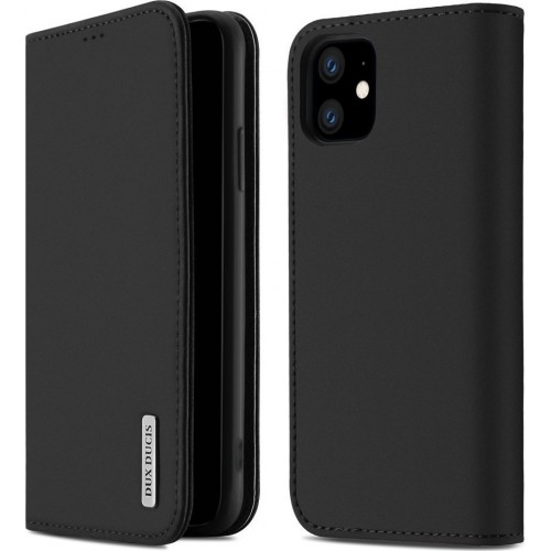 DUX DUCIS Wish Genuine Leather Bookcase type case for iPhone 11 black