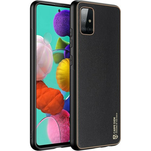 Dux Ducis Yolo elegant case made of soft TPU and PU leather for Samsung Galaxy A51 black