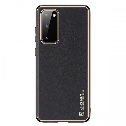 Dux Ducis Yolo elegant case made of soft TPU and PU leather for Samsung Galaxy S20 black
