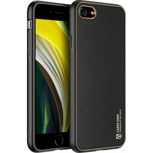Dux Ducis Yolo elegant case made of soft TPU and PU leather for iPhone SE 2020/7/8 black