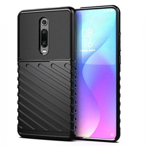 Θήκη Hurtel Thunder Flexible Tough Rugged Cover TPU Case για Xiaomi Mi 9T / Xiaomi Mi 9T Pro Μαύρο