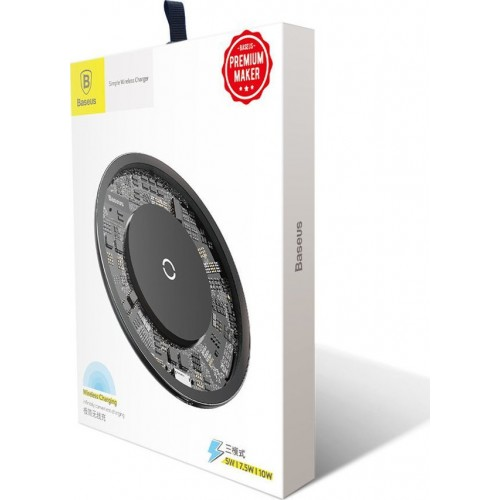 BASEUS Wireless charger - Simple 10W μαύρο (CCALL-AJK01)