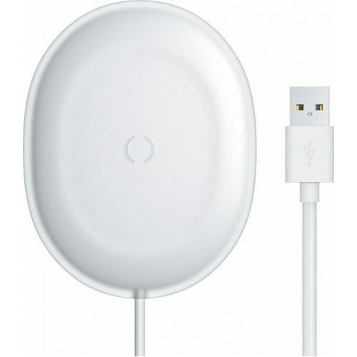 BASEUS Wireless charger - Jelly 15W + Type-C cable άσπρο (WXGD-02)