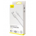 BASEUS USB Cable - White Series Type-C 1M 5A VOOC Quick Charge άσπρο (CATSW-F02)