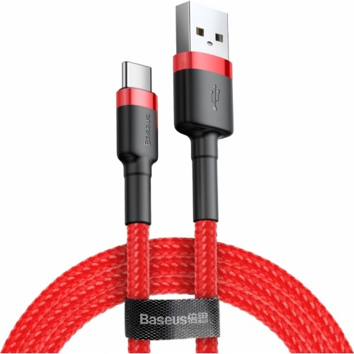 BASEUS USB Cable - Cafule CATKLF-B09 Type-C 1M 3A red