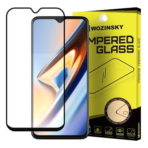 Wozinsky Tempered Glass Full Glue Super Tough Screen Protector Full Coveraged with Frame Case Friendly for OnePlus 7T μαύρο