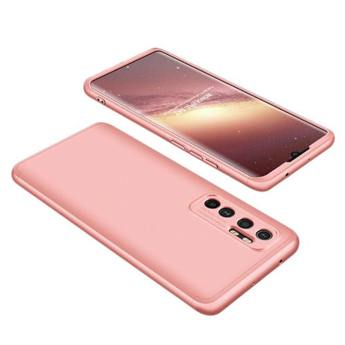 GKK 360 Protection Case Front and Back Case Full Body Cover Xiaomi Mi Note 10 Lite Ροζ