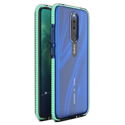 Spring Case clear TPU gel protective cover with colorful frame for Xiaomi Redmi 8/8a mint