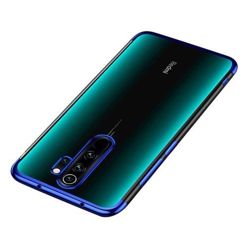 Clear Color Case Gel TPU Electroplating frame Cover for Xiaomi Redmi Note 8 Pro Μπλε