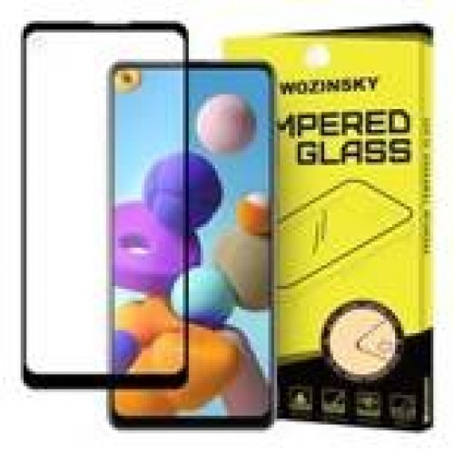 Wozinsky Tempered Glass Full Glue Super Tough Screen Protector Full Coveraged with Frame Case Friendly for Samsung Galaxy A21S μαύρο