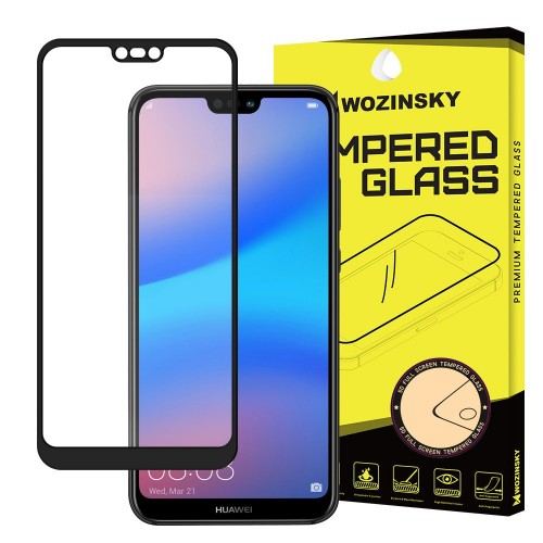 Wozinsky Full Cover Tempered Glass 9H για Huawei P20 Lite μαύρο