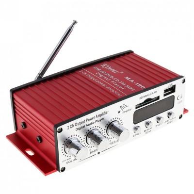 Kinter MA-120 12V 2 Channel Mini Digital Audio Ραδιοενισχυτής με τηλεχειριστήριο