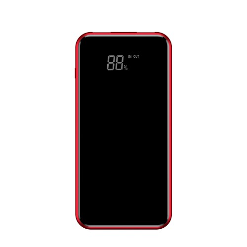 Baseus Bracket Wireless Charger Power Bank Qi 8000 mAh with Wireless Charging and Pull-Type Support red (PPALL-EX09)