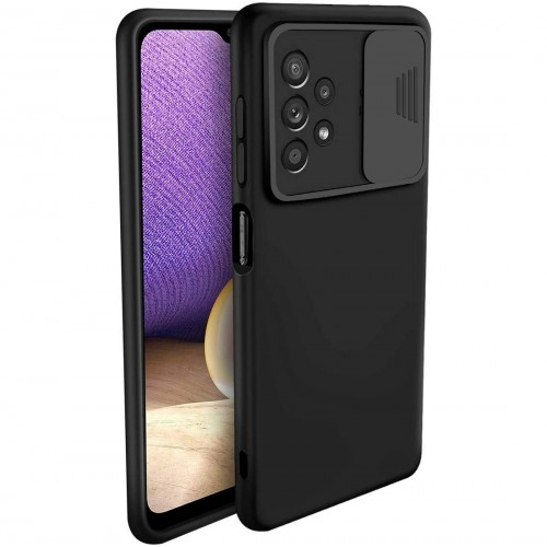 Nexeri Silicone Case with Camera Lens Privacy Slider Cover for Samsung Galaxy A32 4G back