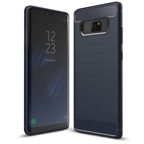 Carbon Θήκη Flexible Cover TPU θήκη για Samsung Galaxy Note 8 N950 μπλε
