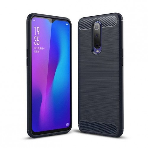 Carbon Case Flexible Cover TPU Θήκη για Xiaomi Mi 9T Pro / Mi 9T μπλε