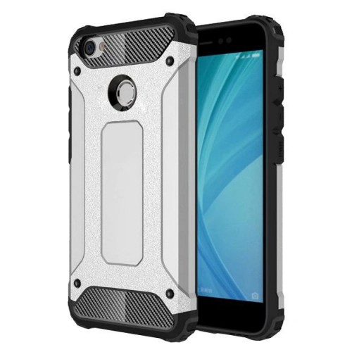Θήκη Hurtel Hybrid Armor Tough Rugged Cover για Xiaomi Redmi Note 5A Prime ασημί