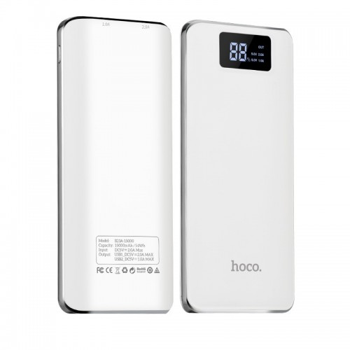 HOCO B23A Flowed Power Bank 15000mAh λευκό