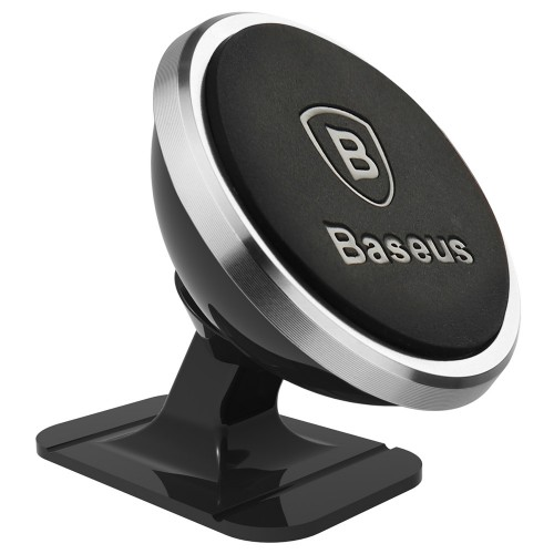 Baseus 360-Degree Universal Magnetic Car Mount Holder for Car Dashboard silver (SUGENT-NT0S)
