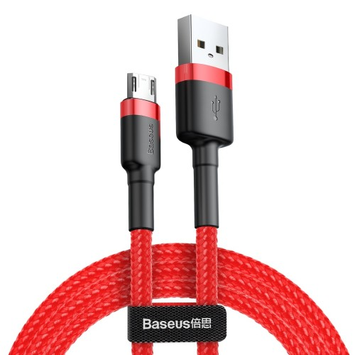 Baseus Cafule Cable Durable Nylon Braided Wire USB / micro USB QC3.0 1.5A 2M red (CAMKLF-C09)