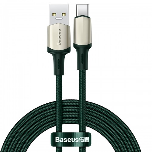 Baseus Cafule Cable Nylon Braided USB - USB Type C cable VOOC Quick Charge 3.0 5 A 2 m green (CATKLF-VB06)