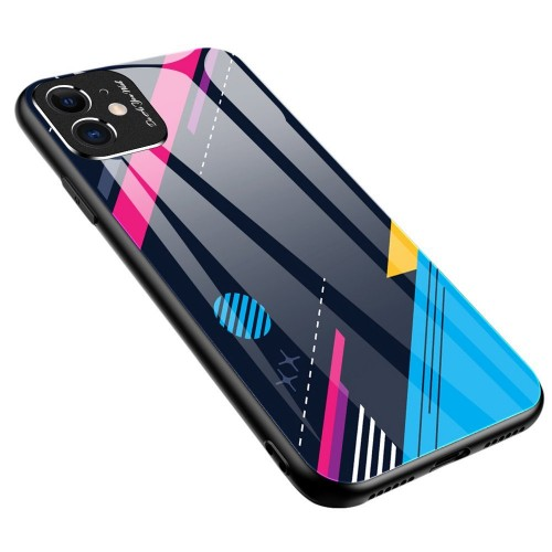 Color Glass Case Durable Cover with Tempered Glass Back and camera cover Xiaomi Redmi Note 9 Pro / Redmi Note 9S pattern 4