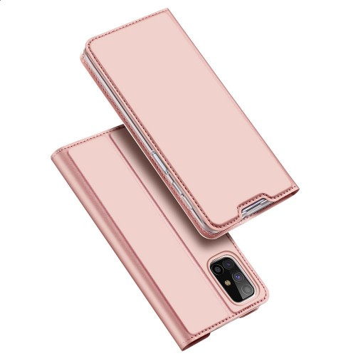 DUX DUCIS Skin Pro Bookcase type case for Samsung Galaxy M31s pink