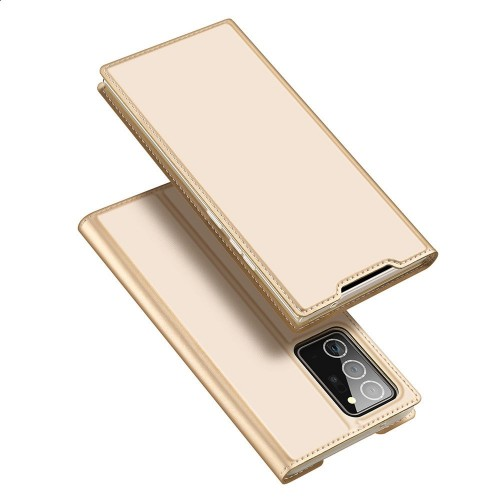 DUX DUCIS Skin Pro Bookcase type case for Samsung Galaxy Note 20 Ultra golden