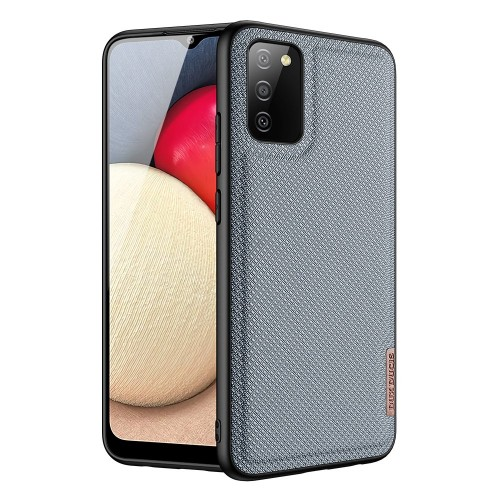 Dux Ducis Fino case covered with nylon material for Samsung Galaxy A02s EU blue