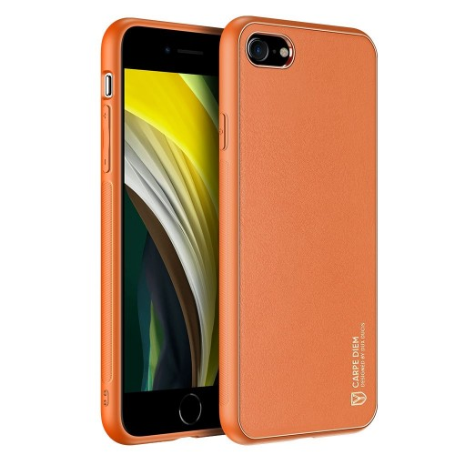 Dux Ducis Yolo elegant case made of soft TPU and PU leather for iPhone SE 2020 / iPhone 8 / iPhone 7 orange