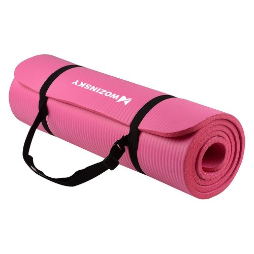 Gymnastic non slip mat for exercising 181 cm x 63 cm x 1 cm pink (WNSP-PINK)