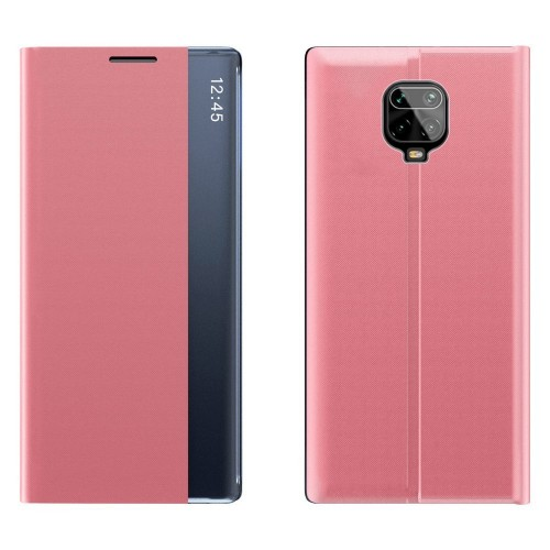 New Sleep Case Bookcase Type Case with kickstand function for Xiaomi Redmi Note 9 Pro / Redmi Note 9S pink