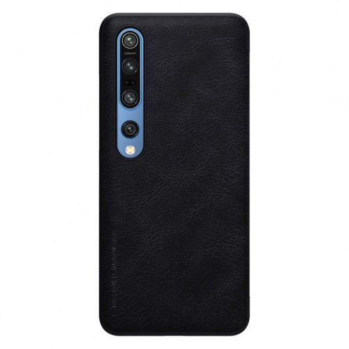 Nillkin Qin original leather case cover for Xiaomi Mi 10 Pro / Xiaomi Mi 10 black