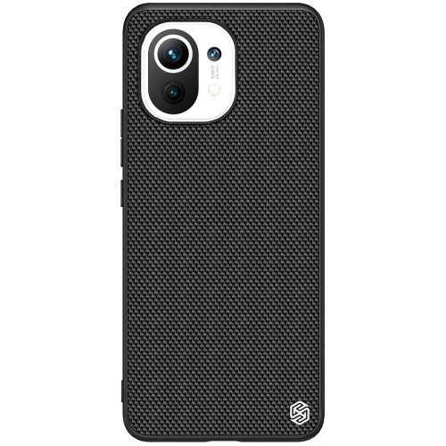 Nillkin Textured Case rugged cover with gel frame and nylon on the back Xiaomi Mi 11 black