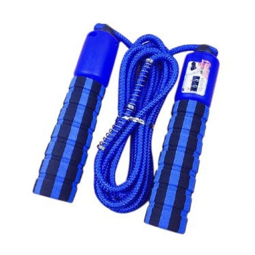 Skipping rope with a jump counter fitness crossfit blue