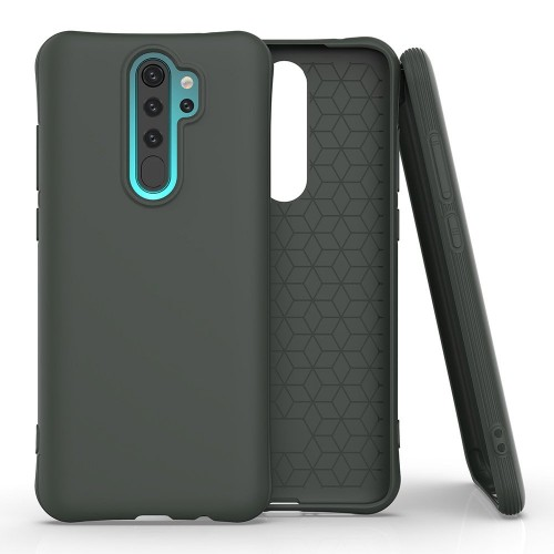 Soft Color Case flexible gel case for Xiaomi Redmi Note 8 Pro dark Πράσινο