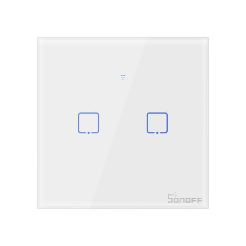 Sonoff T0EU2C-TX two-channel touch Wi-Fi wireless wall smart switches white (IM190314010)