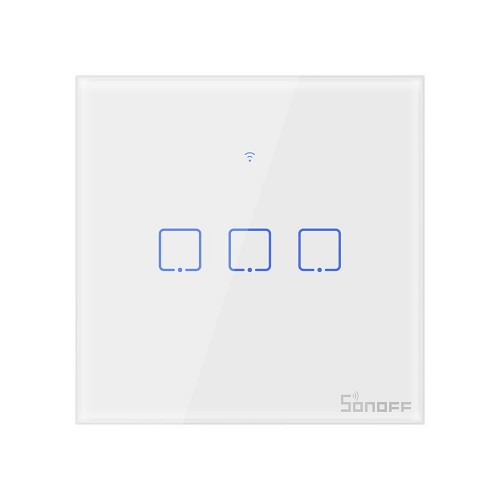 Sonoff T0EU3C-TX three-channel touch Wi-Fi wireless wall smart switches white (IM190314011)