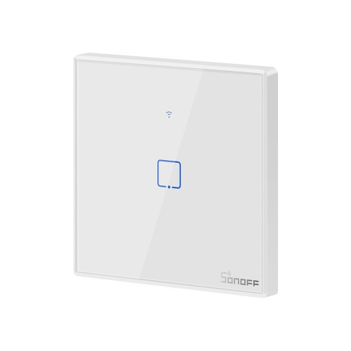 Sonoff T2EU1C-TX Single Channel Touch Light Switch Switch Wi-Fi Button White (IM190314015)