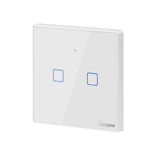 Sonoff T2EU2C-TX Two-channel Touch Light Switch Wi-Fi Button White (IM190314016)