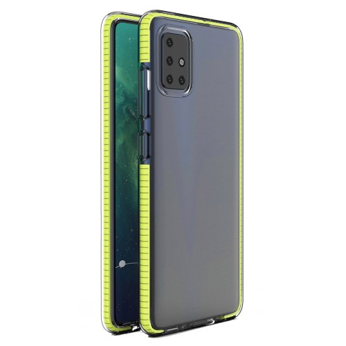 Spring Case Back Cover Σιλικόνης Κίτρινο (Redmi Note 9)